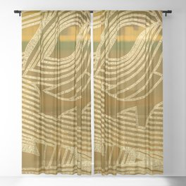 Symphony of Golden Sky Sheer Curtain