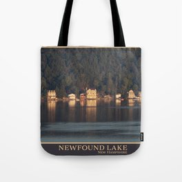 Houses on the Newfound Lake Tote Bag