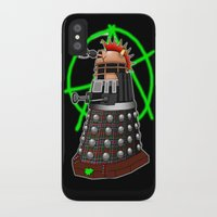 dalek iPhone & iPod Cases featuring Punk Dalek by Andrew Mark Hunter