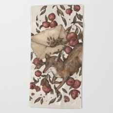 Coyote Love Letters Beach Towel