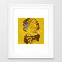 beethoven Framed Art Prints featuring Beethoven by BIG Colours