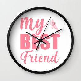 My Best Friend Is A Budgie pw Wall Clock