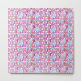 Colorful Balls Pattern Metal Print