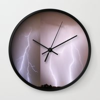 moon phase Wall Clocks featuring Phase Two by Augustina Trejo