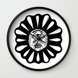 THIRD EYE FLOWER Wall Clock