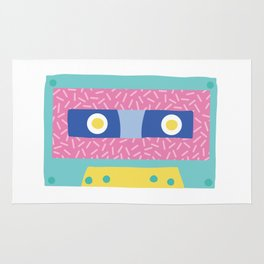 Memphis Revival Cassette Tape Rug