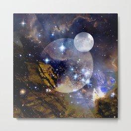 Stars and Orbs Metal Print