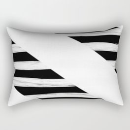 Cross Black and White Gross Stripes Rectangular Pillow