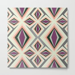Contemporary Geometric Design Metal Print