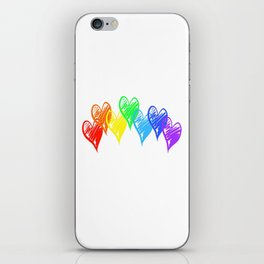 Rainbow Hearts iPhone Skin