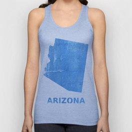 Arizona map outline Blue Jeans watercolor Unisex Tank Top