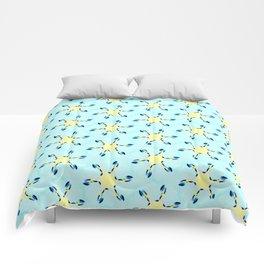 starfish on turquoise tropical sea geometric pattern Comforters