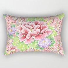 Pink Paisley Kimono Bouquet Rectangular Pillow