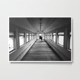 Catching the Train Metal Print