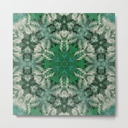 Green mandala  2 Metal Print