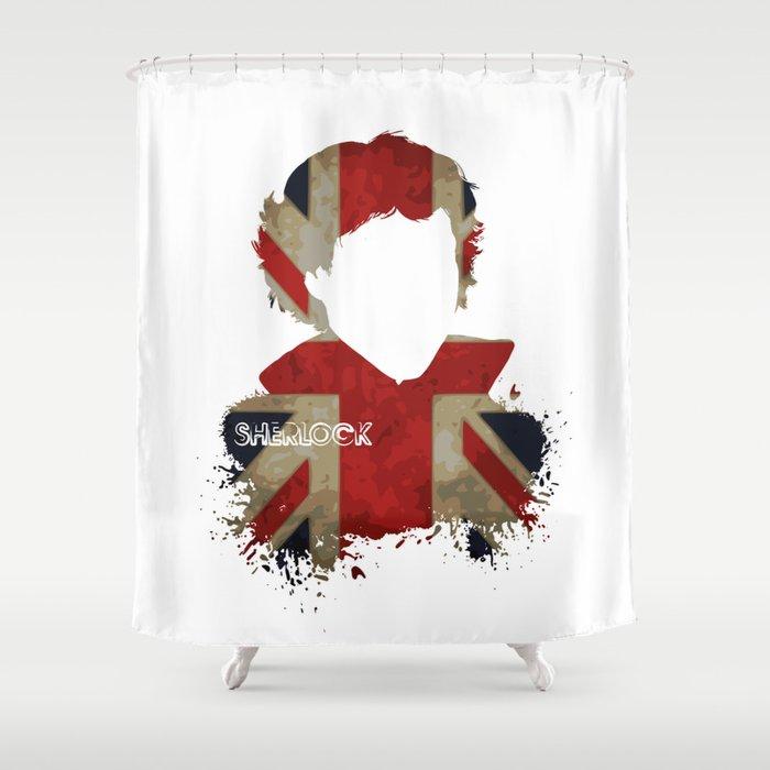Sherlockian Union Jack Shower Curtain by ieindigoeast