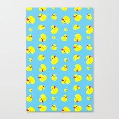 Rubber Duck Pattern Canvas Print