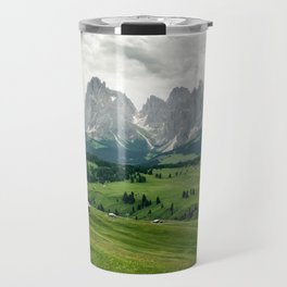 Mountain view in the Italian Dolomites Travel Mug