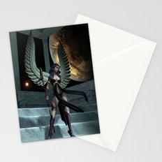 Fantasy Winged Female Warrior Stationery Cards