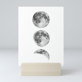 Full Moon cycle black-white photography print new lunar eclipse poster bedroom home wall decor Mini Art Print
