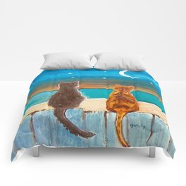Cats on a Fence Comforters