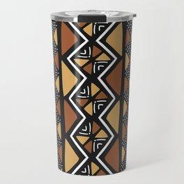 African mud cloth Mali Travel Mug