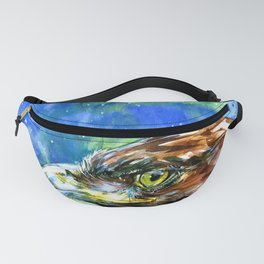 Golden Eagle And Butterfly by Kathy Morton Stanion Fanny Pack