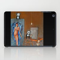 pandas iPad Cases featuring Painting Pandas by Chris Shockley - shock schism