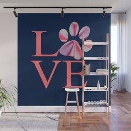 Love is Four Letter Word - Tie Dye Wall Mural