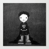 superhero Canvas Prints featuring Superhero by Sylphing