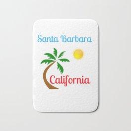 Santa Barbara California Palm Tree and Sun Bath Mat