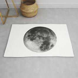 Moon   Full Moon   Black&White Art   Minimalism   Universe   Watercolor Painting Rug