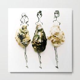 Edible Ensembles: Oysters Metal Print