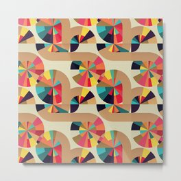 Kaleidoscope Pattern Metal Print