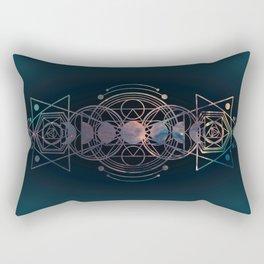 Dark Moon Phase Nebula Totem Rectangular Pillow