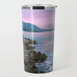 Cefalu Italy Coast Sunset Travel Mug