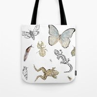 insects Tote Bags featuring Insects by Claire Bond