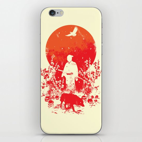 red sun iPhone & iPod Skin