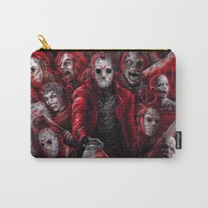Jason Voorhees Friday the 13th Many faces of Carry-All Pouch