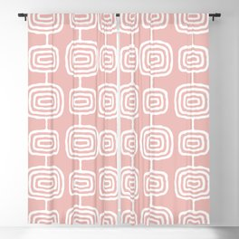 Mid Century Modern Atomic Rings Pattern Dusty Rose Blackout Curtain