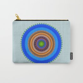 Colourful mandala with tribal patterns Carry-All Pouch