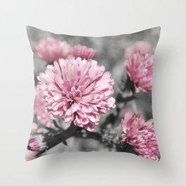 Blushing Gray Throw Pillow