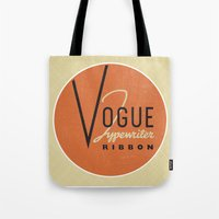 vogue Tote Bags featuring Vogue by One Little Bird Studio