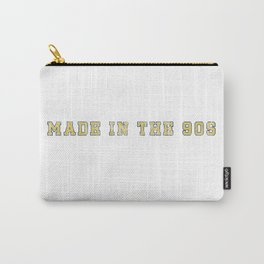 Made in the 90s Blue and Yellow Carry-All Pouch
