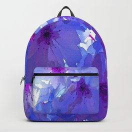 Blue Cherry Blossoms Backpack