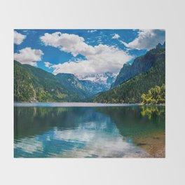 Mountain Valley Lake Throw Blanket