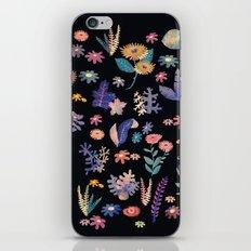 color flowers in the dark iPhone Skin
