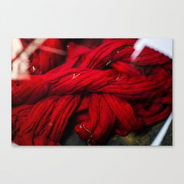 Red Dyeing Canvas Print