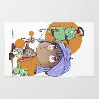 aladdin Area & Throw Rugs featuring Cute Aladdin by EY Cartoons