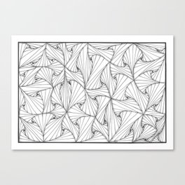 Twisted (ZIA) - Black & White Drawing Canvas Print